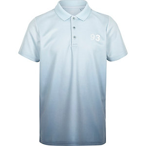 Boys blue fade polo shirt
