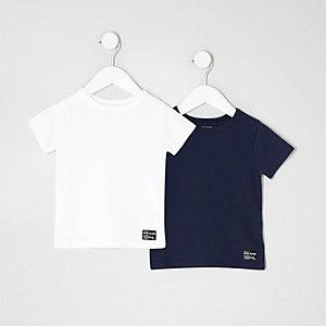 T-Shirts mit Waffle-Struktur, Set