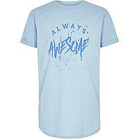 Boys blue 'Always Awesome' T-shirt