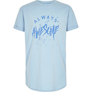 Boys blue 'Always Awesome' T-shirt