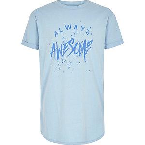Blauw T-shirt met 'Always Awesome'-print voor jongens