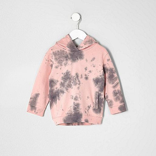 Mini boys pink tie dye sweatshirt