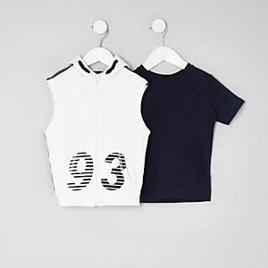 Mini - Set witte hoodies met '93'-print voor jongens