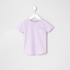 Lila T-Shirt mit Tasche