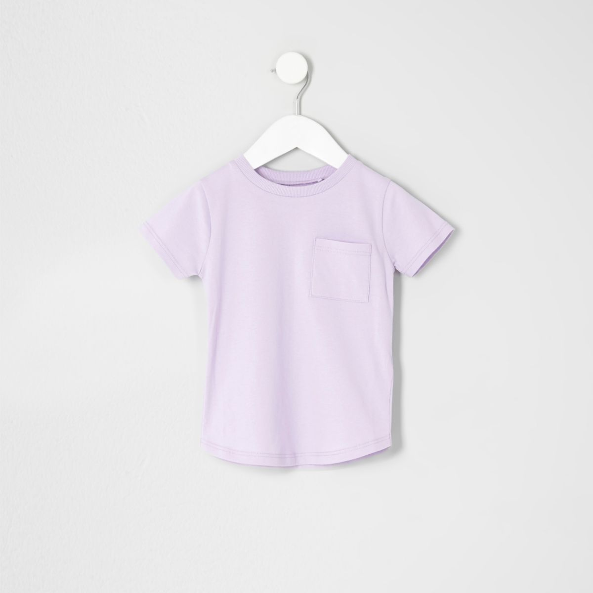 Mini boys purple pocket T-shirt