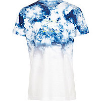 Boys blue tie dye fade T-shirt