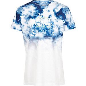 T-shirt bleu effet tie-dye pour garçon