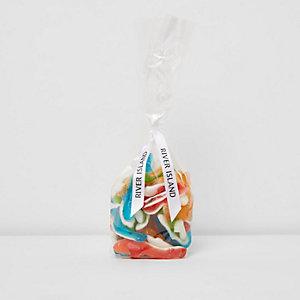 Multi colour gummy shark sweets