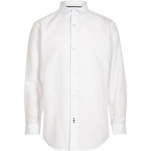 Wit net overhemd voor jongens