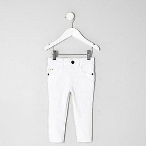 Mini - Sid witte ripped skinny jeans voor jongens