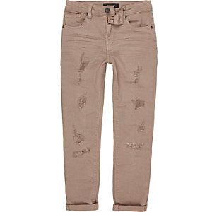 Sid - Roze ripped skinny jeans voor jongens