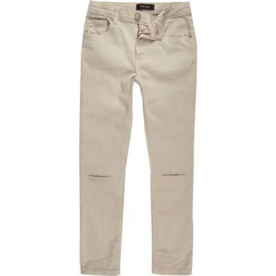 Sid Kiezelkleurige skinny jeans met gescheurde knie voor jongens