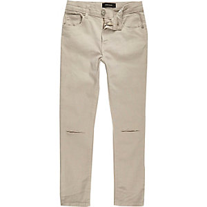 Boys stone ripped knee Sid skinny jeans