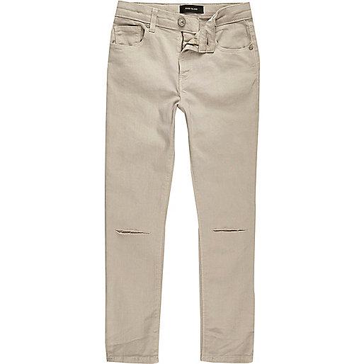 Boys stone ripped knee Sid skinny jeans