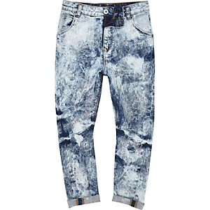 Loose Fit Jeans mit extremer Bleach-Optik