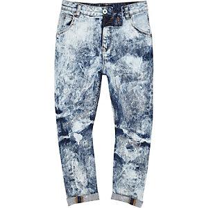 Jean large bleu clair ultra blanchi pour garçon