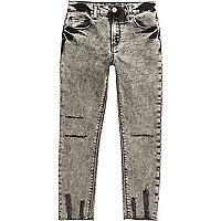 Sid - Skinny-Jeans in schwarzer Acid-Waschung