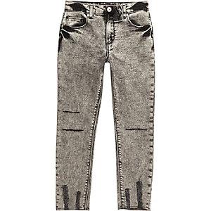 Zwart acid wash Sid skinny jeans voor jongens