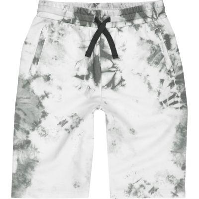Witte tie-dye short voor jongens