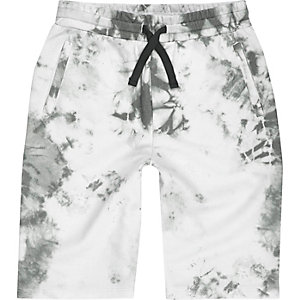 Boys white tie dye shorts
