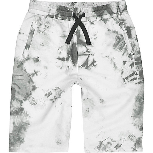 Boys white tie dye shorts