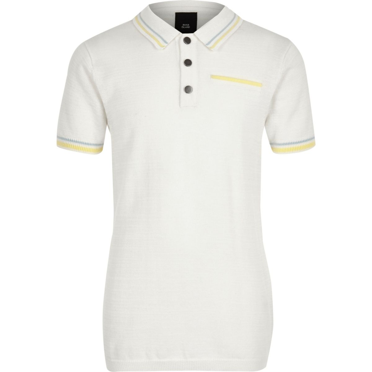 Boys white tipped smart polo shirt