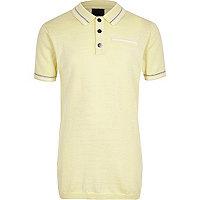 Boys yellow tipped smart polo shirt