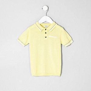Mini boys yellow tipped smart polo shirt