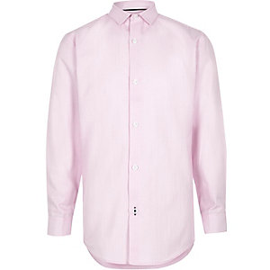 Boys pink stripe print smart shirt