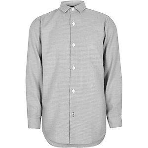 Grijs net overhemd met textuur voor jongens