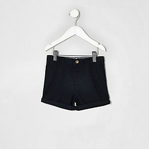 Mini boys navy blue chino shorts