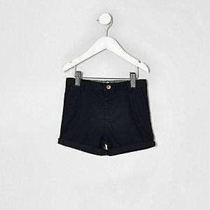 Mini - Marineblauwe chinoshort voor jongens