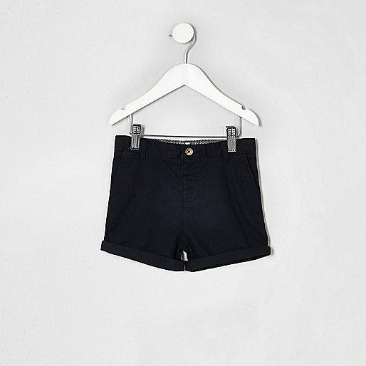 Mini boys navy blue chino shorts
