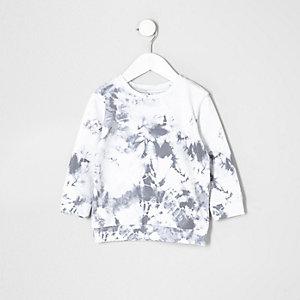 Mini - Wit sweatshirt met marmerprint voor jongens