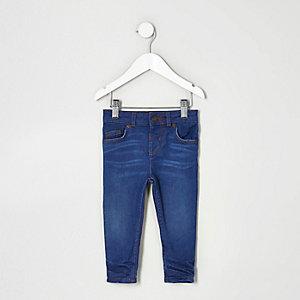 Mini - Sid middenblauwe skinny jeans voor jongens