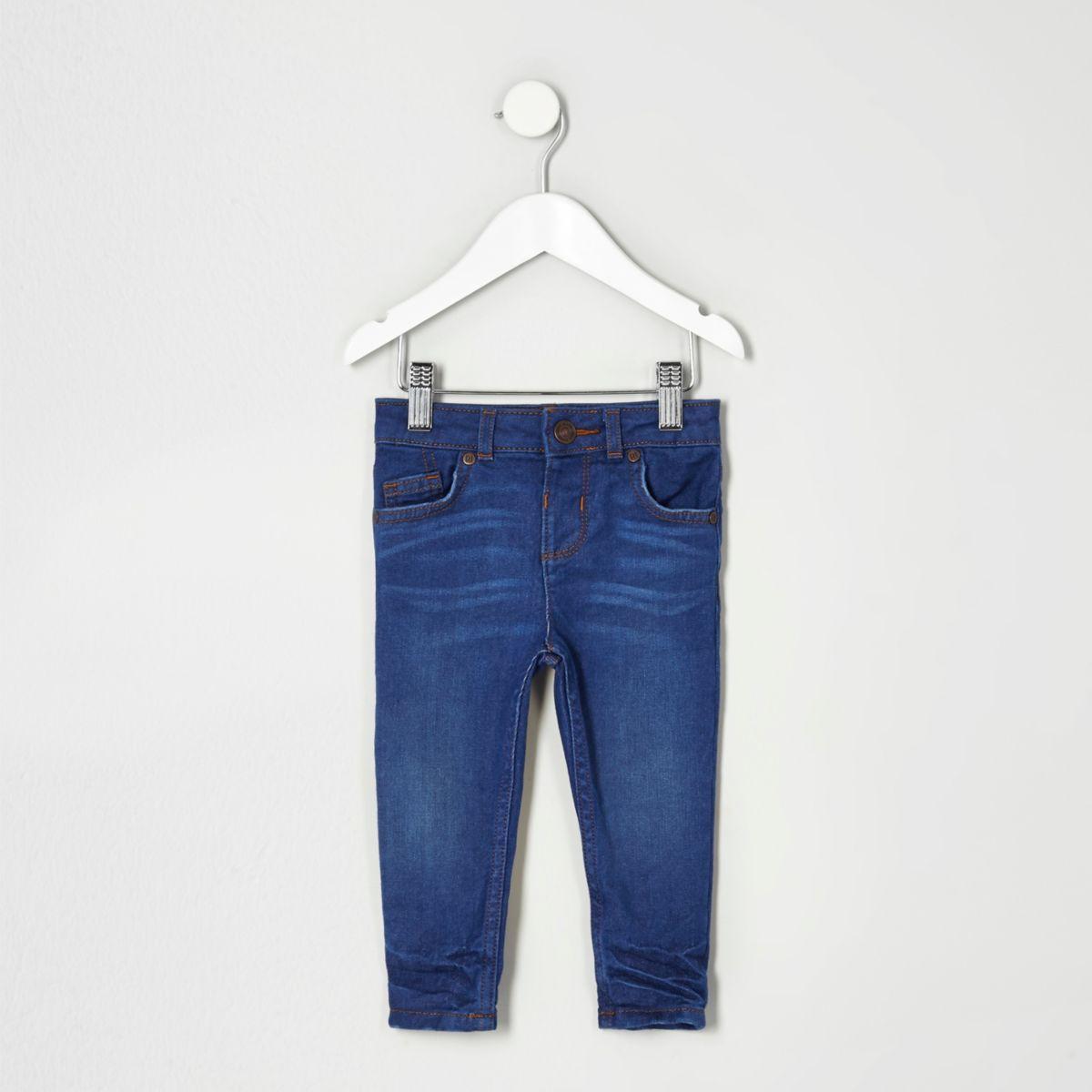 Mini boys mid blue Sid skinny jeans