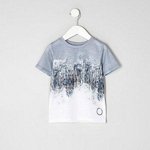 Mini - T-shirt met vervaagde print en korte mouwen voor jongens