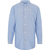 Boys blue long sleeve Oxford shirt