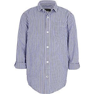Blauw overhemd met strepen voor jongens