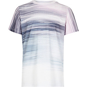 Boys purple glitch fade T-shirt