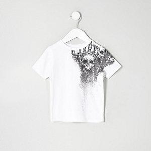 Mini - T-shirt met doodshoofdprint op de schouder voor jongens