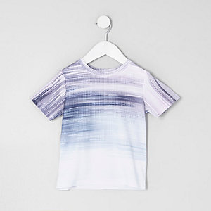 Mini - Paars vervagend T-shirt voor jongens