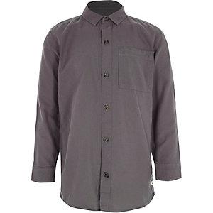 Donkerpaars Oxford overhemd met lange mouwen voor jongens