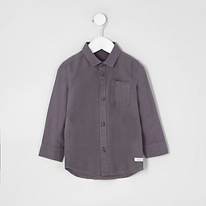 Mini boys dark purple Oxford shirt
