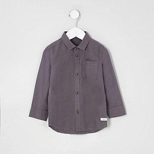 Mini boys dark purple Oxford shirt