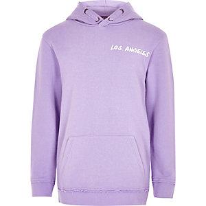 Paarse hoodie met 'Los Angeles'-print voor jongens