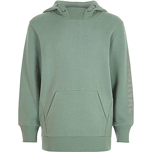Boys light green long sleeve hoodie