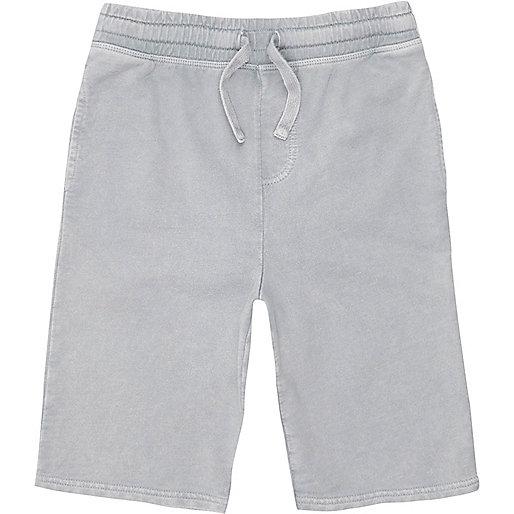 Boys grey washed jersey shorts