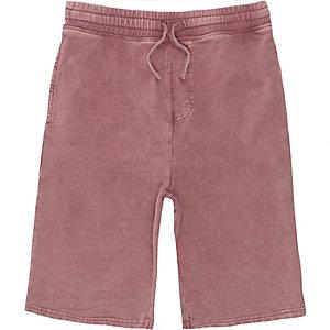 Short en jersey rose délavé pour garçon