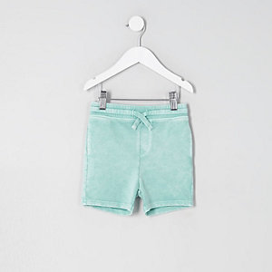 Jersey-Shorts in Hellgrün
